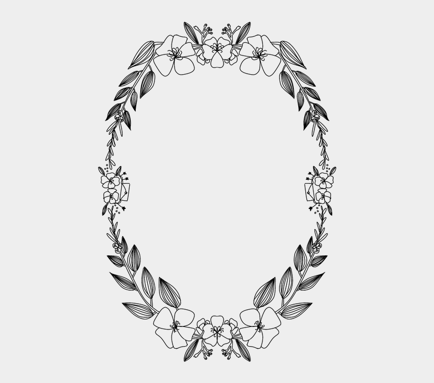 flower wreath clipart images, Cartoons - Free Corolla Flower Image - Wreath
