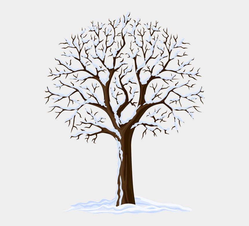 winter tree clipart images, Cartoons - Winter Season Tree Clipart
