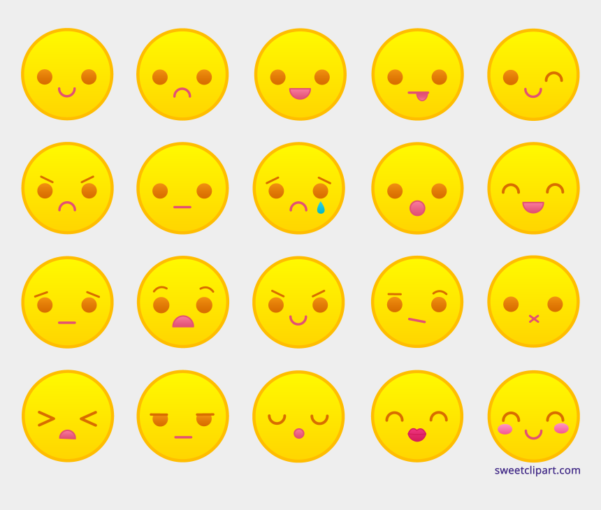 smiley clipart traurig, Cartoons - Yellow Emoticons Sweet Clip - Smiley