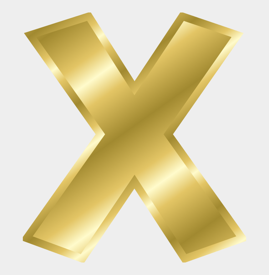 letters design clipart, Cartoons - Gold Letter X Png