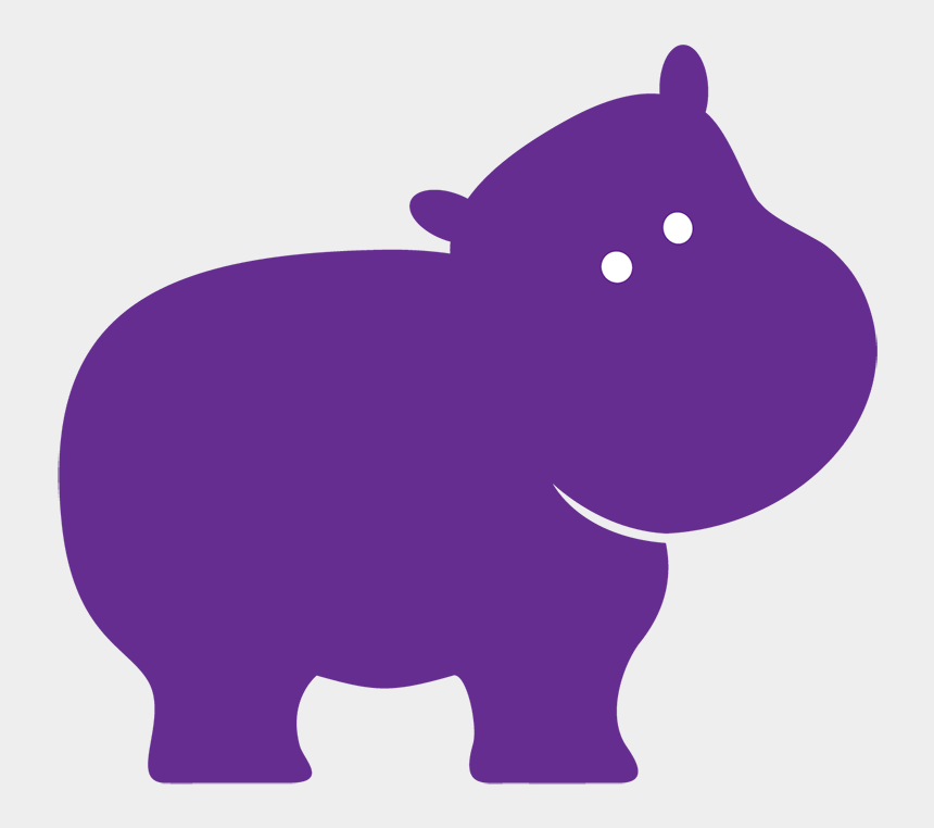 hippo clipart silhouette, Cartoons - Hippopotamus Purple Elephant Clip Art - Hippo Silhouette Clip Art