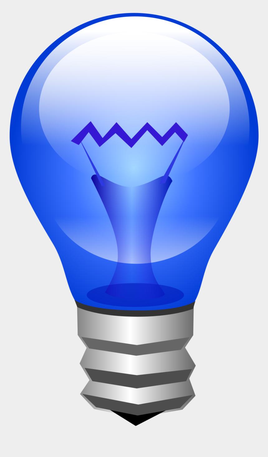 lightbulb clipart blue, Cartoons - Lamp Clipart Lightbulb Edison - Light Bulb Gif Png