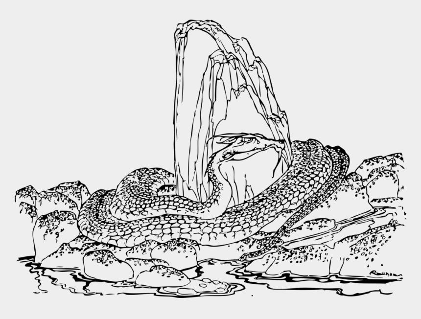 worm clipart outline, Cartoons - Line Art,art,tree - Snake House Line Drawing