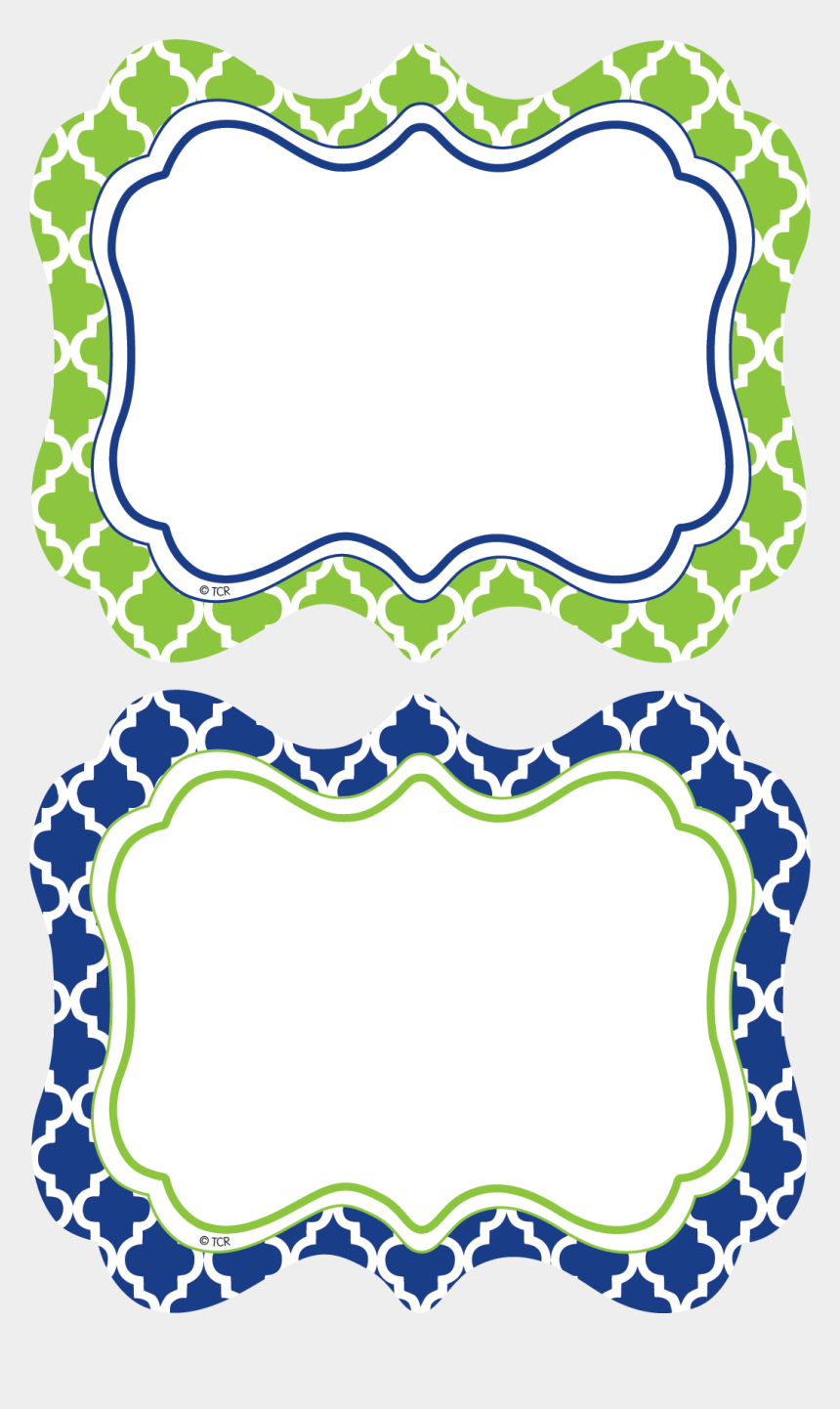 label clipart with name, Cartoons - Navy & Lime Wild Moroccan Name Tags/labels Clipart - Navy And Lime Border