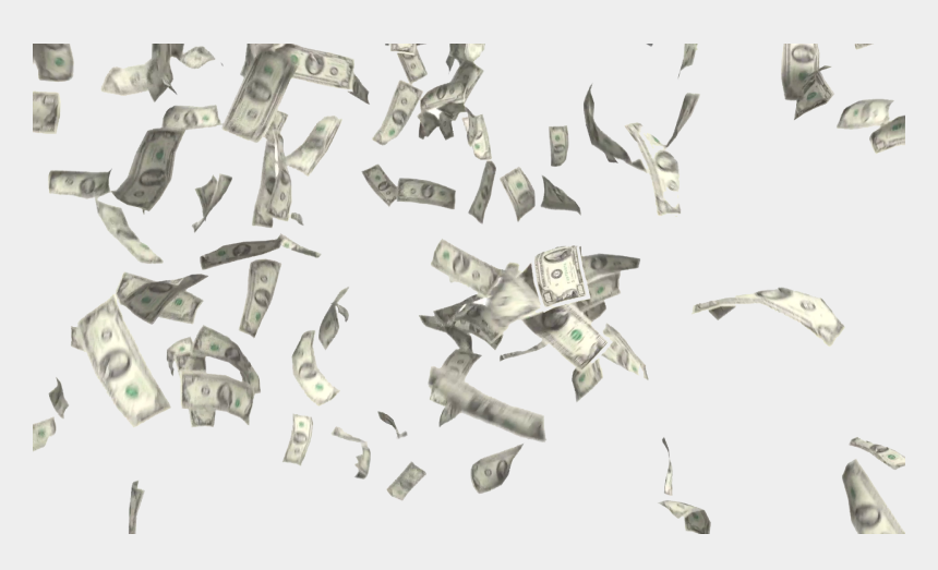 cash clipart gif, Cartoons - Transparent Background Money Falling Png