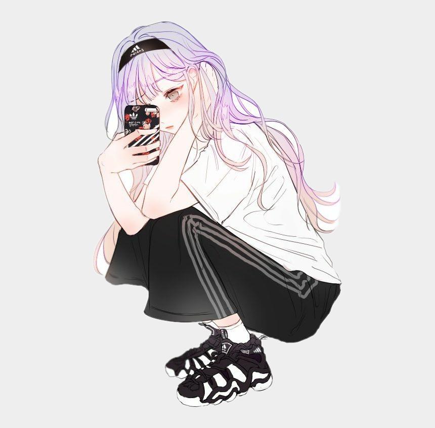 phone selfie clipart, Cartoons - #anime #selfie #phone - Cute Anime Girl Selfie