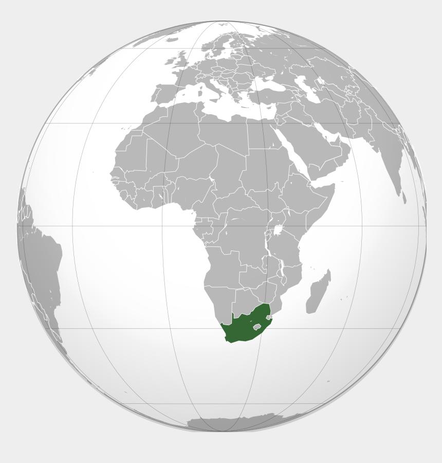 africa clipart world, Cartoons - South Africa Map Globe