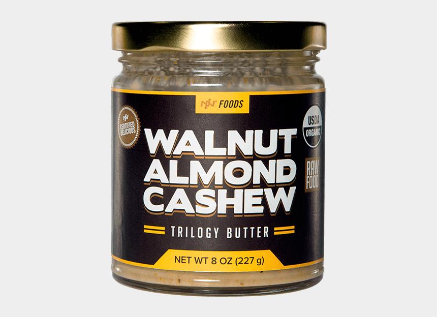 jar of peanut butter clipart, Cartoons - Walnut Almond Cashew Trilogy Butter - Onnit Trilogy Butter
