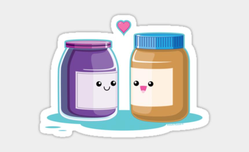 jar of peanut butter clipart, Cartoons - Kawaii Peanut Butter And Jelly