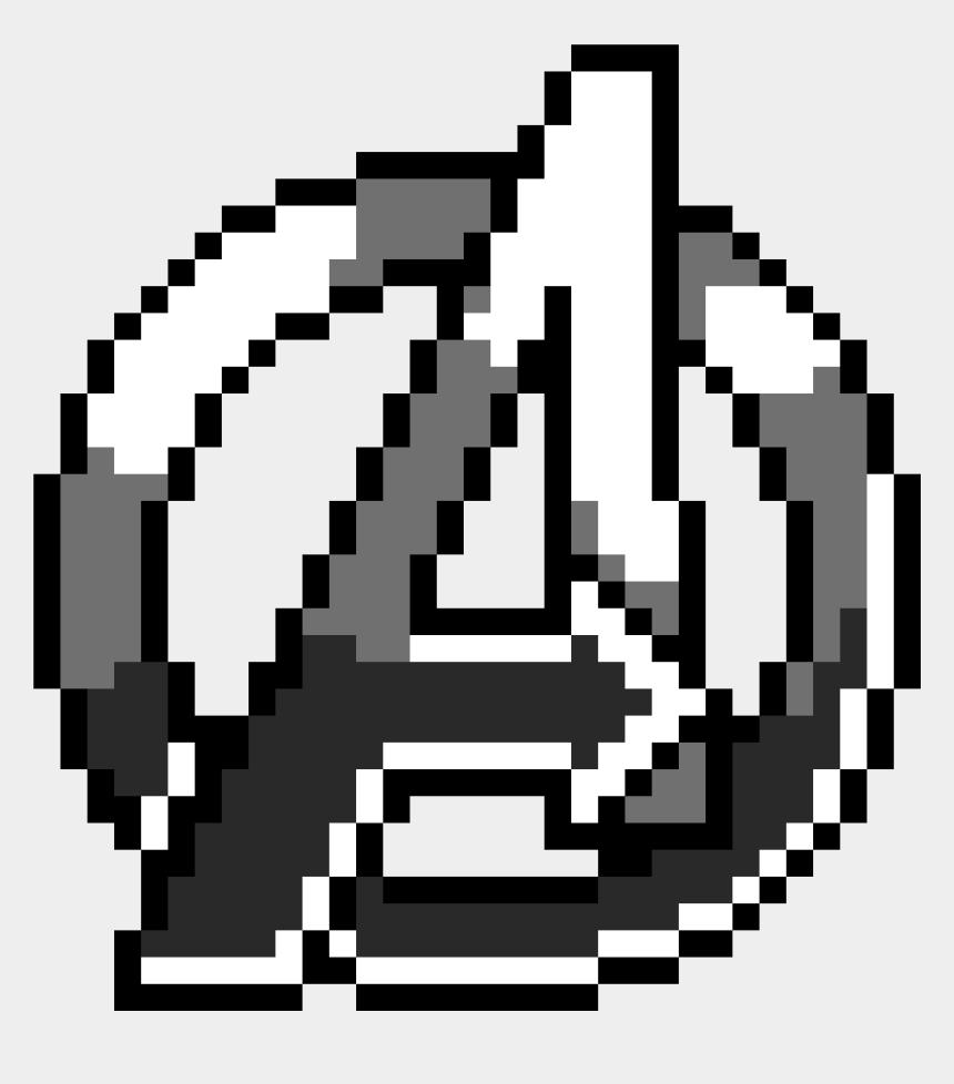 avengers symbol clipart, Cartoons - Avengers Logo Pixel Art