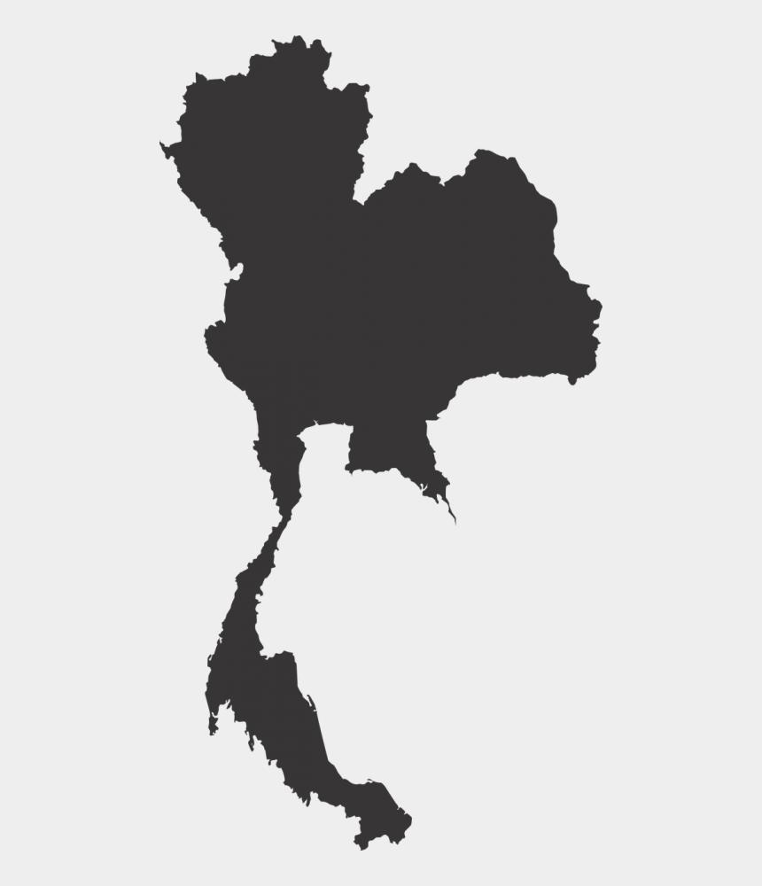 public domain us map clipart, Cartoons - Thailand Map Map Vector Silhouette - Thailand Map Vector Png