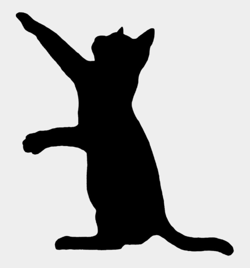 black cat silhouette clipart, Cartoons - #freetoedit #black #cat #silhouette - Cat Silhouette Png