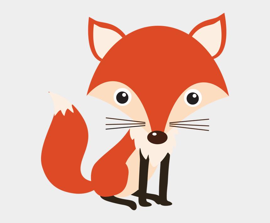 cute woodland animal clipart, Cartoons - Baby Fox Woodland Animals