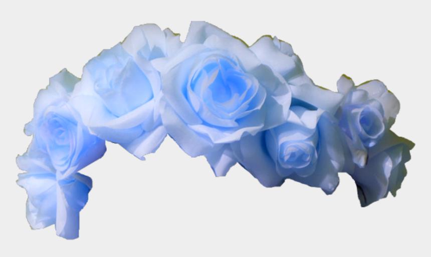 light blue flower clipart, Cartoons - #blue #rose #flower #crown #aesthetic #light #lightblue - Flower Crown Transparent Background