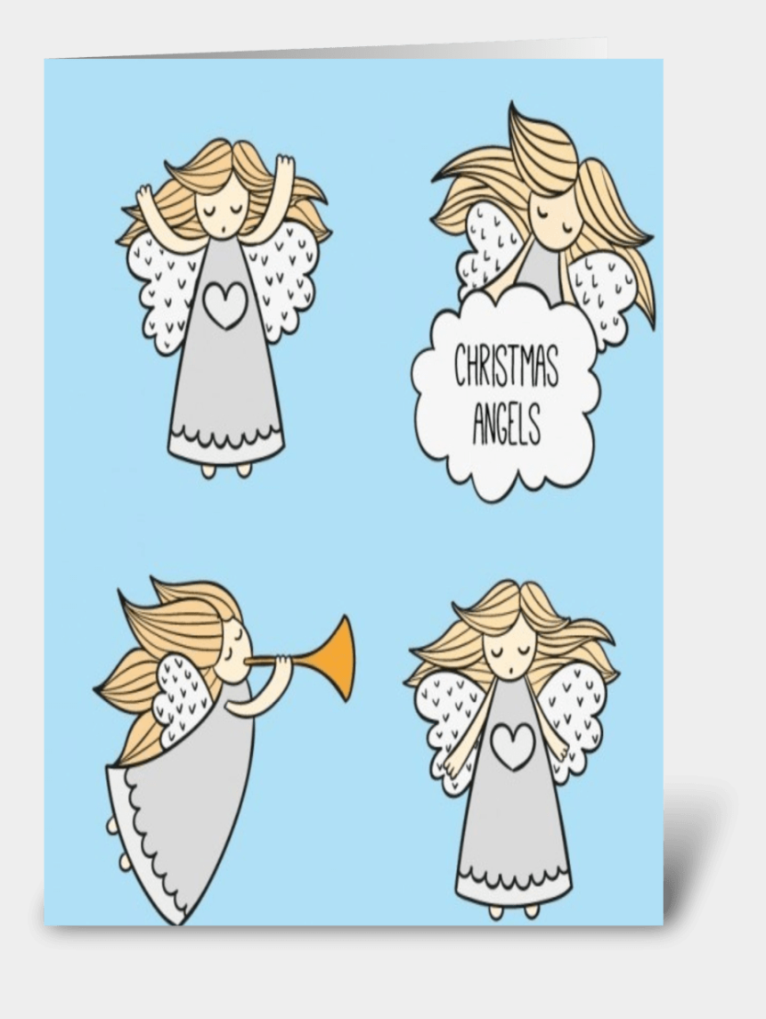 religious christmas clipart angels, Cartoons - Christmas Angels Greeting Card - Cartoon