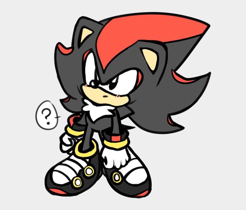 Confused Classic Shadow For Your Blog Sonic The Hedgehog Shadow The Hedgehog Classic Cliparts Cartoons Jing Fm