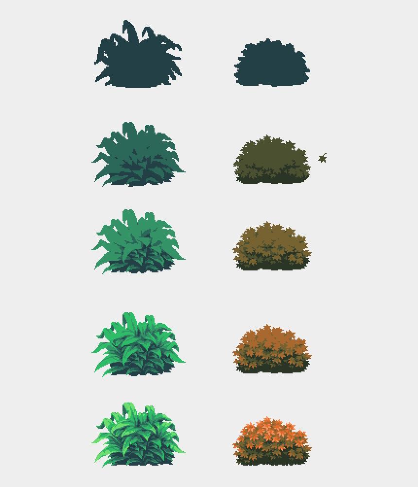 bushes clipart outline, Cartoons - Drawing Bushes Digital - Tall Tree Pixel Art