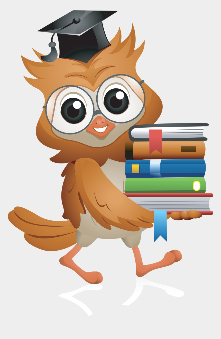 home school connection clipart, Cartoons - Owl Carrying Books Clipart