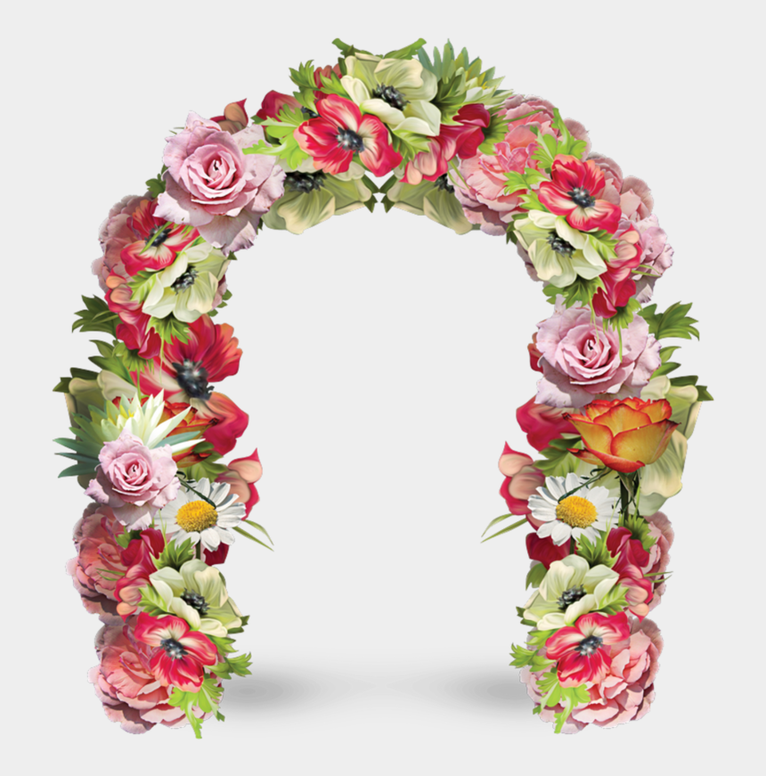 archway clipart, Cartoons - Forgetmenot Arches Flowers Ⓒ - Flower Door Frame Png