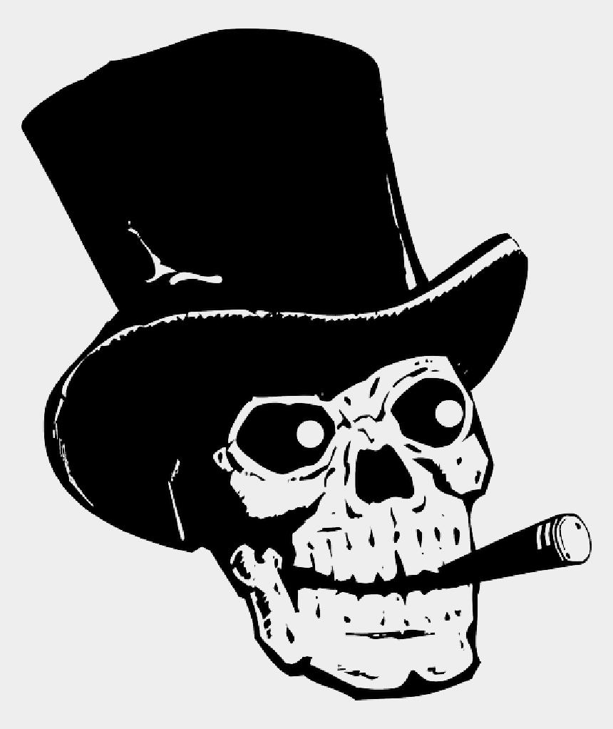 top hat outline clipart, Cartoons - Asian Hat Png - Tête De Mort Avec Chapeau