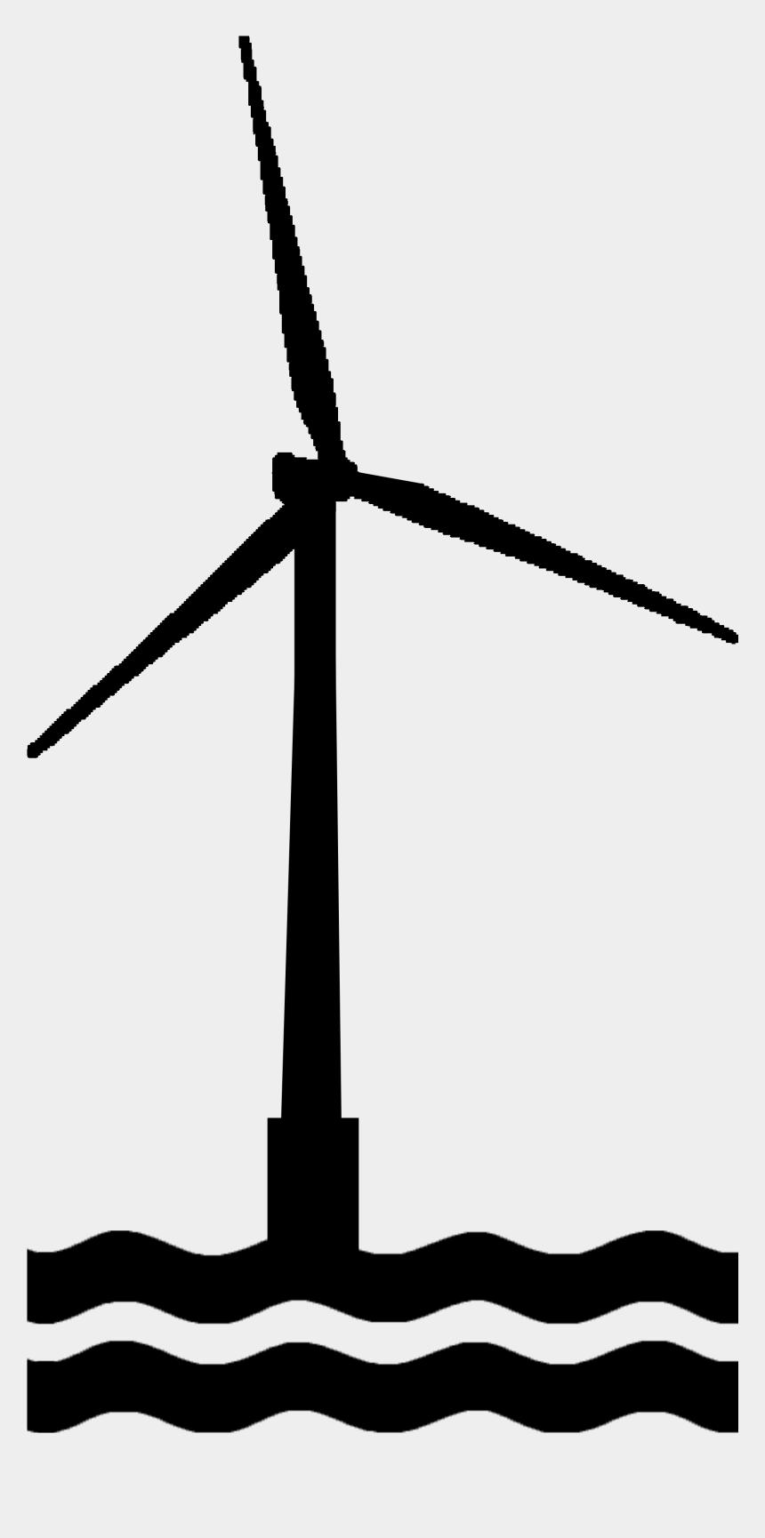 wind turbines clipart, Cartoons - Marine Offshore Wind Turbine Icon - Offshore Wind Turbine Icon