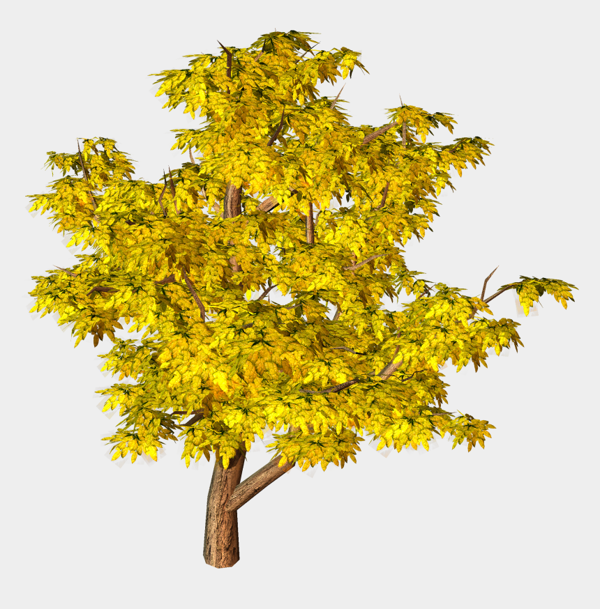 landscaping clipart tree, Cartoons - Yellow Fall Tree Png Clipart - Png Tree Background Hd