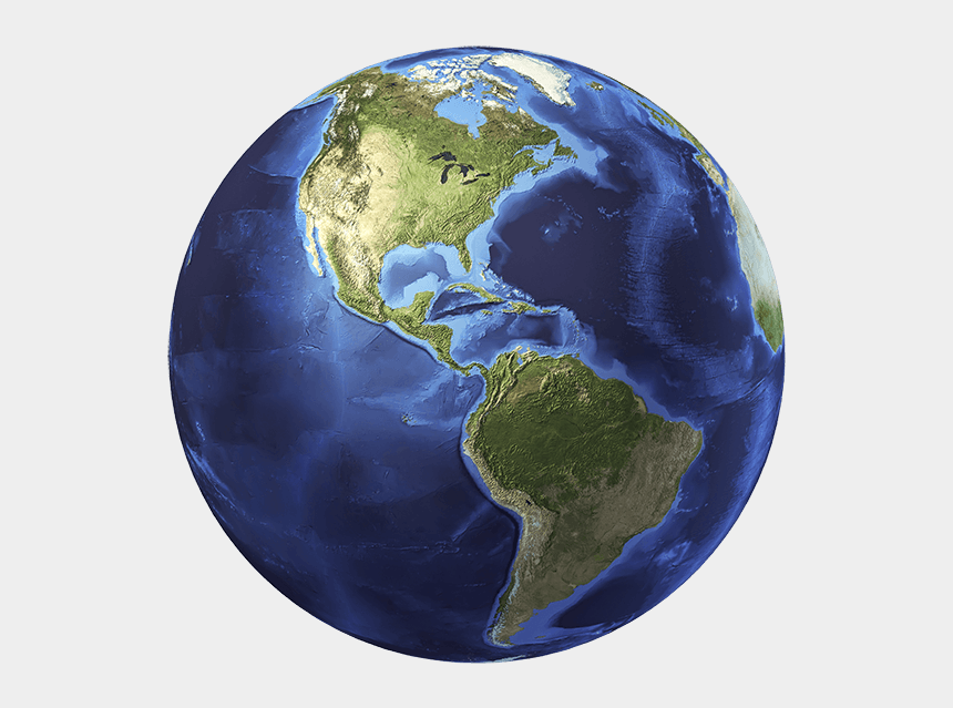 north clipart, Cartoons - 3d Rendering Of Planet Earth, Centered On North America - Earth North America And South America