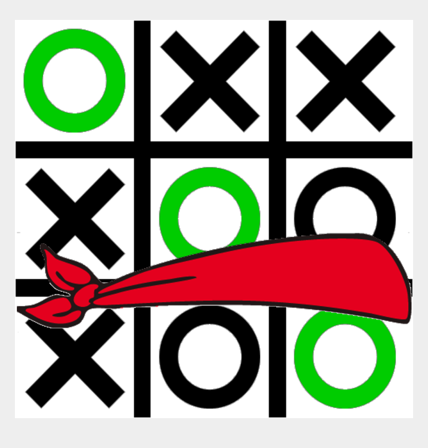 grid clipart, Cartoons - Blindfold Tic Tace Digital Math Grid Game Paths - Tic Tac Toe Img