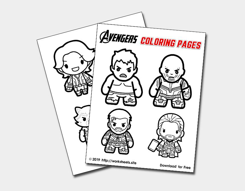 desayuno clipart, Cartoons - Avengers Endgame Coloring Pages - Avengers
