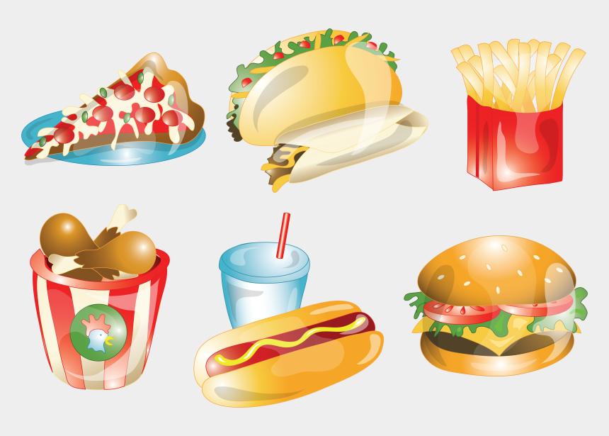 junk clipart, Cartoons - Fast Food Mexican Cuisine Hamburger French Fries Junk - Transparent Vector Fast Food