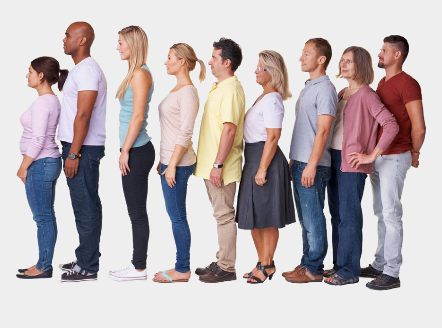 waiting in line clipart, Cartoons - Line Of People Png - People Waiting In Line Transparent