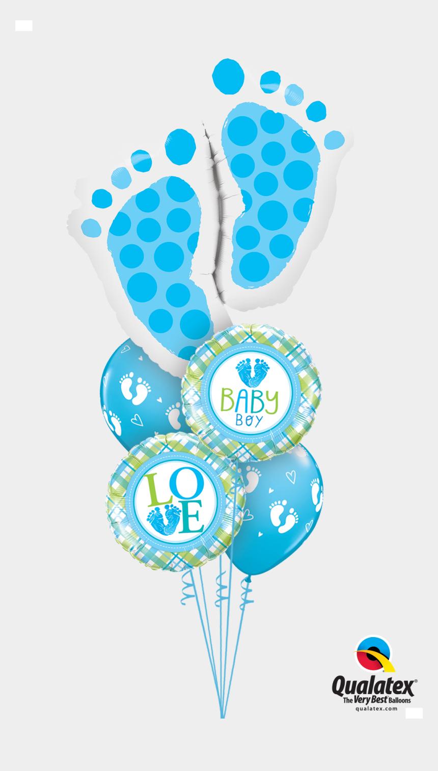 it's a boy banner clipart, Cartoons - Classic Baby Boy Feet Balloon - Baby Feet Balloon Bouquets