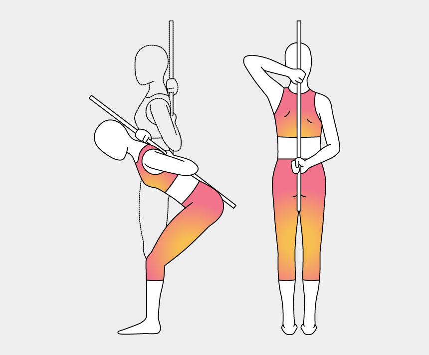 hinge joint clipart, Cartoons - Physera Hip Hinge Movement - Illustration