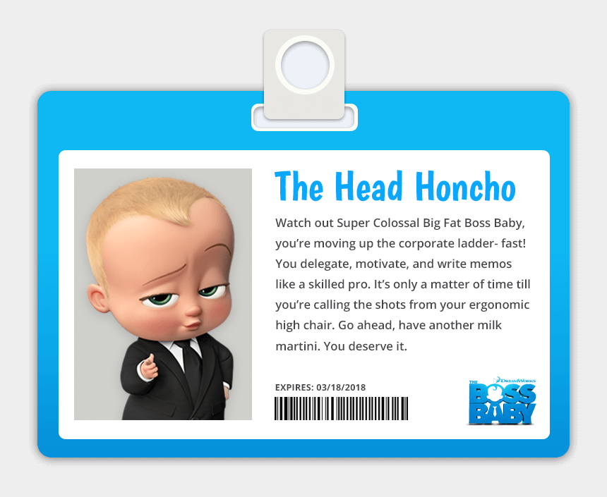 boss baby tie clipart, Cartoons - Boss Baby Business Cards