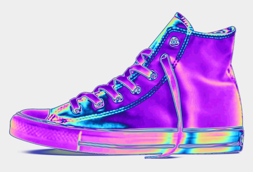 converse chucks clipart, Cartoons - #converse #sneaker #shoe #holo #holographic #purple - Converse Purple Holo