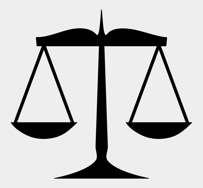 measurement clipart free, Cartoons - Justice, Law, Measurement, Silhouette, Weight, Scales - Scales Of Justice Clip Art