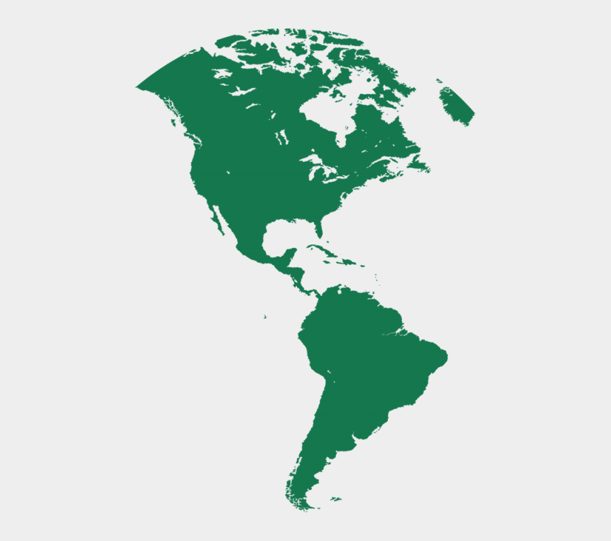 free clipart map of north america, Cartoons - Free Png Download North And South America Silhouette - North And South America Map Silhouette