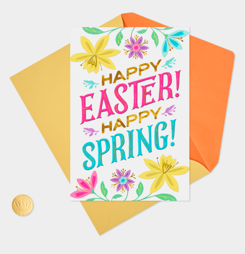 happy easter happy spring clipart, Cartoons - Happy Spring Png - Greeting Card
