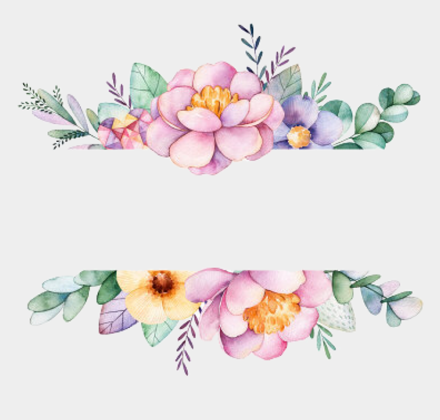 watercolor flowers clipart png, Cartoons - Free Png Download Watercolor Flowers Frame Png Images - Background Floral Frame Png
