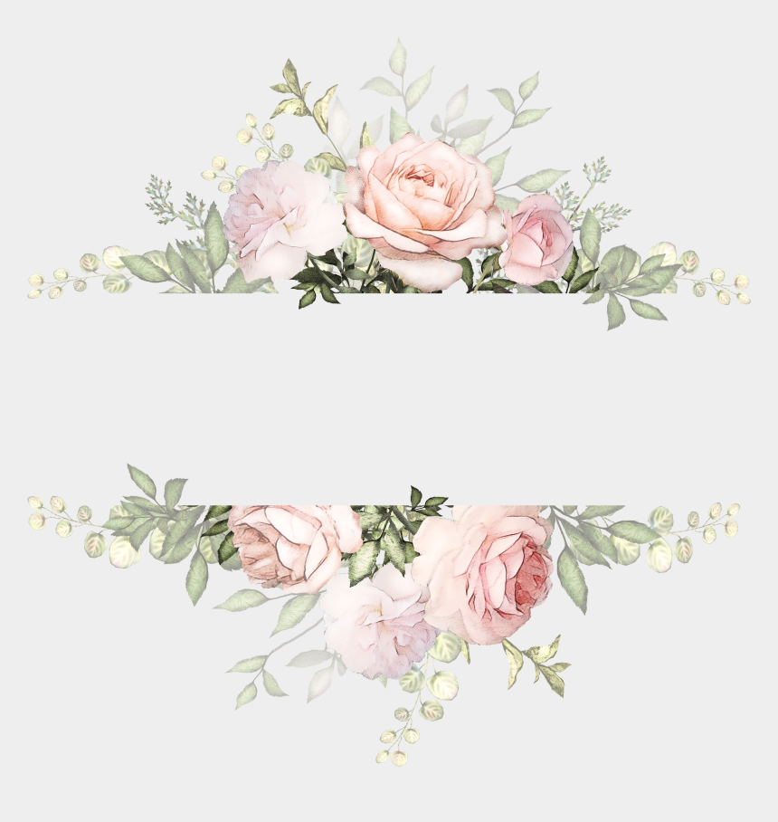 watercolor flowers clipart png, Cartoons - Vintage Watercolor Flowers Background , Png Download - Transparent Background Flower Wreath