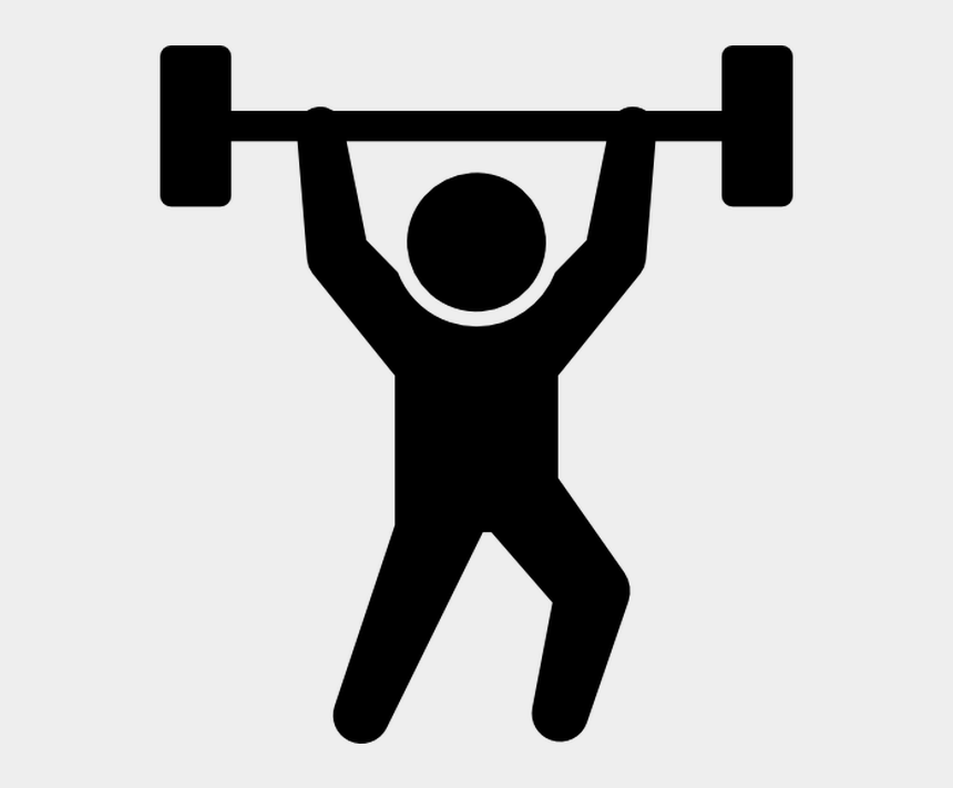 weightlifting running clipart, Cartoons - Fitness Centre Weight Training Physical Fitness Exercise - Weight Training