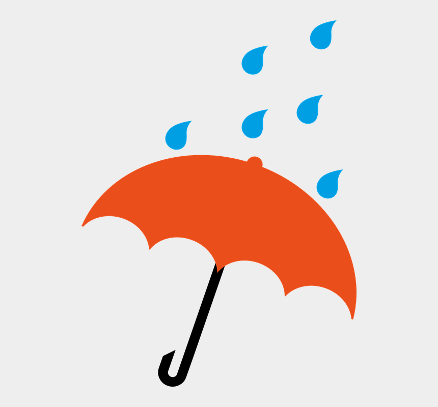slippery roads clipart, Cartoons - Umbrella With Rain Clipart