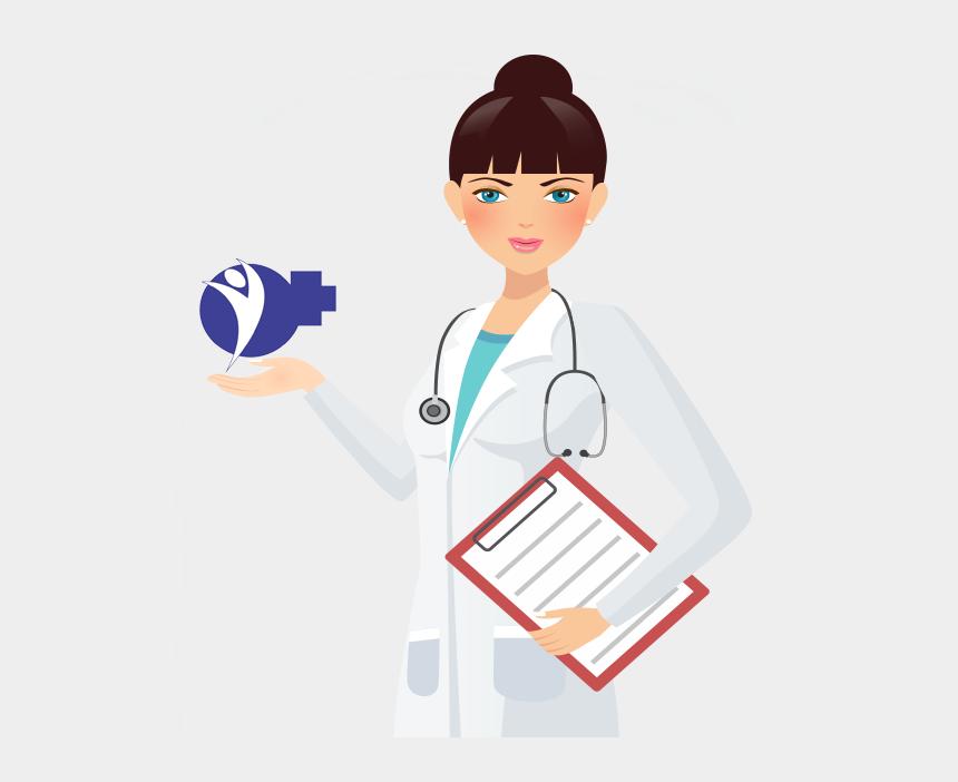 woman lab coat clipart, Cartoons - Physician
