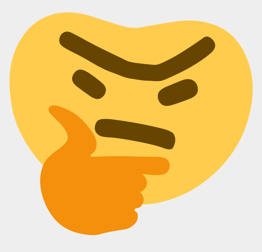 free clipart thinking emoji, Cartoons - Thunk - Thinking Discord Meme