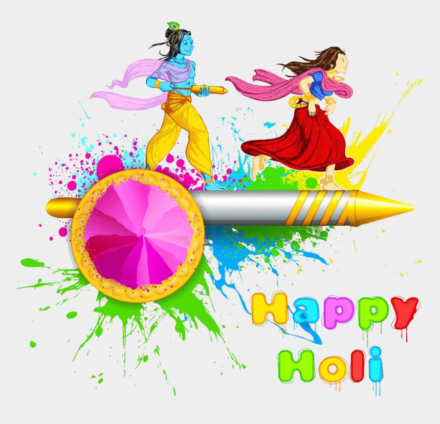 krishna bansuri clipart, Cartoons - Transparent Happy Holi Text Png - Holi Image Radha Krishna