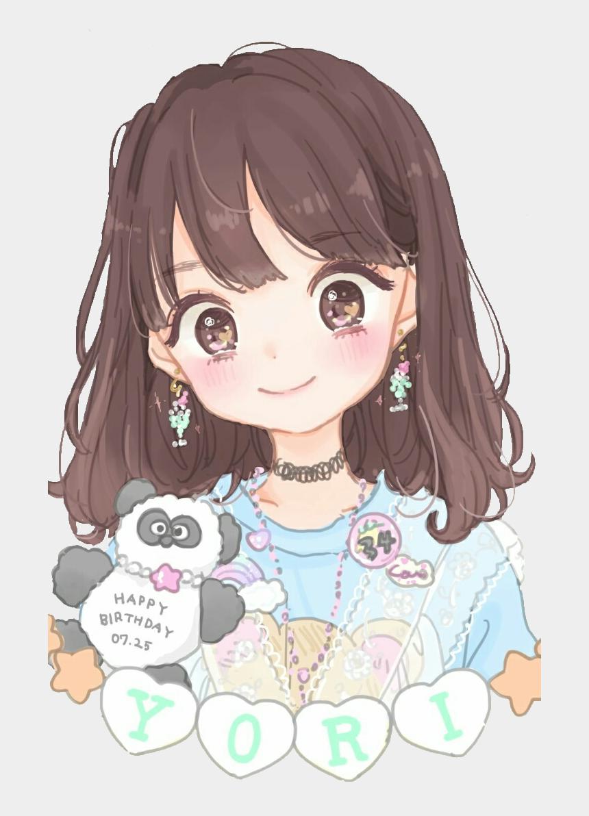anime clipart face, Cartoons - #panda #animegirl #girl #anime #cute #colorful #handpainted - Cute Anime Girl Birthday