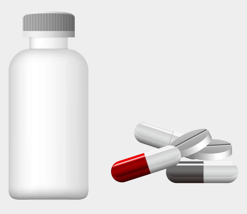clipart medicine bottle and pills, Cartoons - Dietary Supplement Capsule Bottle - Plastic Bottle