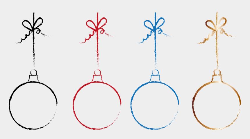 christmas ball outline clipart, Cartoons - Christmas Balls Deco Decoration Free Photo - Christmas Balls Line Art