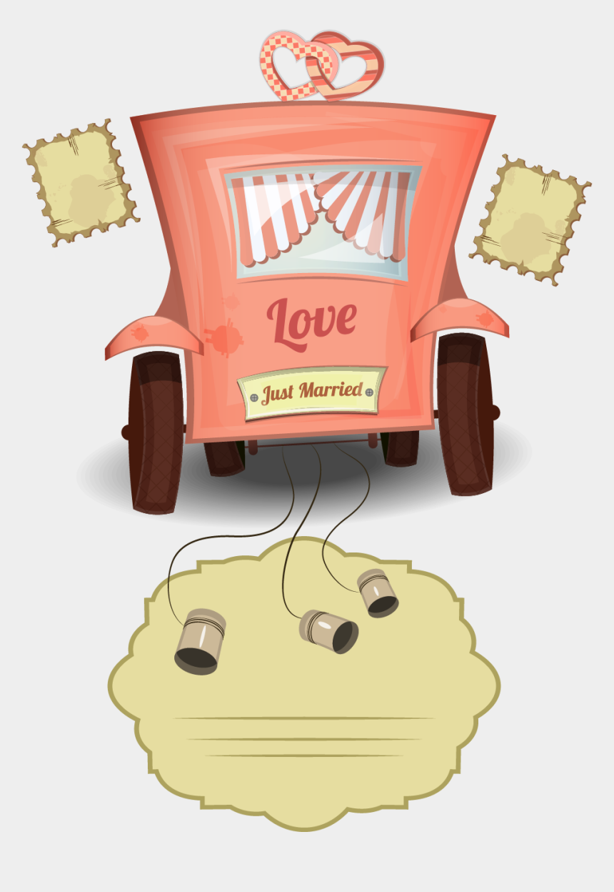 free clipart just married car, Cartoons - Vintage Wedding Cars Png Download - We Have To Go Back