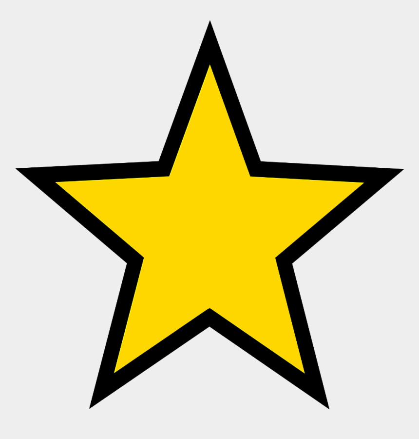 blue star border clipart, Cartoons - Gold Star - Star Icon Png